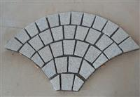 grey meshed sector cubic paver
