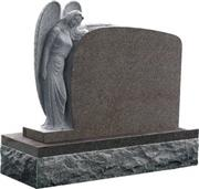 Red Western Style Angel Monument
