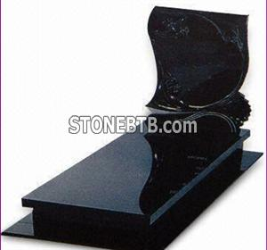 Granite Black Tombstone  029
