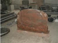 Granite Red Western Style Tombstone JH-62