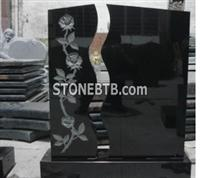 Black Sculpture Tombstone