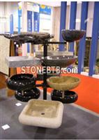 Carved stone Sink and Basin