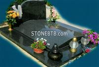 Poland Style Tombstone with Gold Cross