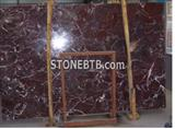 Red Color Roso Lepanto Marble Slab