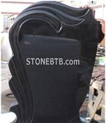Black Color Russia Style Headstone and Tombstone