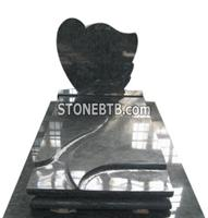 Singel Black Tombstone and Monument