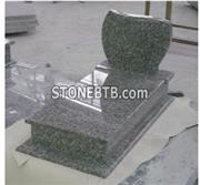 Western Style Shanxi Black Granite Tombstone and Headstone
