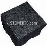 Black granite Cube  Paver Stone