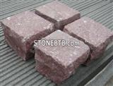Red  granite Cube  Paver Stone