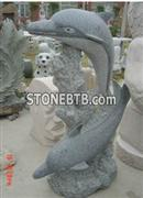 Western Style Dophin Anomal Sculpture
