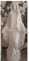 Western Style White Marble Person Sculpture