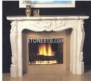Carving Marble  Fireplace Stone