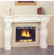 White Carving Marble  Fireplace Stone