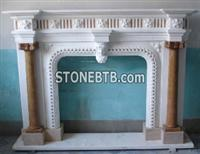 Hot Western Desiign  Carving Marble  Fireplace Stone