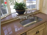 Red Color  Granite Kitchen  Countertops