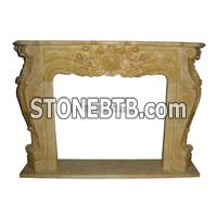 Most Popular Euroepan Style Sculpture Marble Fireplace