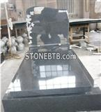 European Style Gray Color Tombstone and Headstone