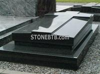 European Style Shanxi Black Tombstone and Monument