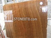 Wood Yellow Marble Tile and Slab