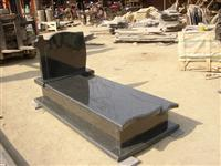 pearl flower granite tombstone