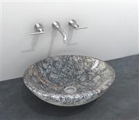 Sea wave white wash basin