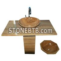 Sandstone Vanity Top & Sink