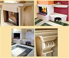 Travertine, marble fireplaces