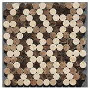 Brown Beige Natural Stone Art Mosaic