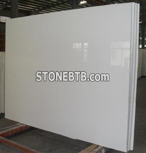 Pure White Pore crystallized glass Panel