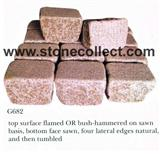 G682 Rusty Yellow granite Tumbled Paving Stone