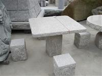 Granite Table and Bench 02