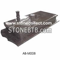 Red granite European style tombstone AB-M008