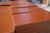 Dyed red granite tiles