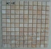 Yellow onyx tumbled mosaic tiles MT-15