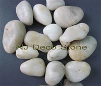 white pebble polished river stone