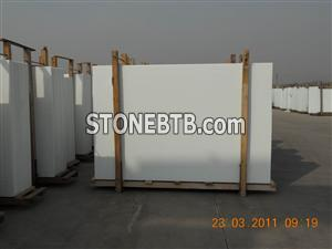 Pure white Crystallized Glass panel