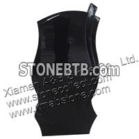 Russian style Shanxi Black granite monument