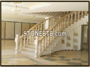 Halila Gold Limestone Stairs