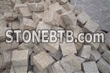 G682 Granite Cubestone, China Yellow Rust Granite Cobble Stone for Paving Outside