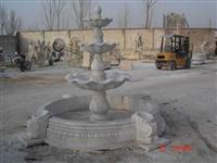 Three-tiers Natural White Marble Fountain