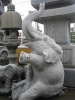 Granite Elephant Carving Sculpture And statue