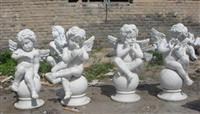White Marble Angel Sculpture Set