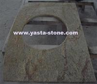 Kashmir Gold Granite Vanity Tops, Granite Bath Vanities