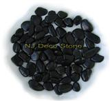 high polished black pebble