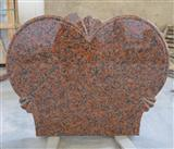 Maple Leaf Red Granite headstone
