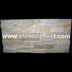 Yellow quartzite tile for wall cladding AB014