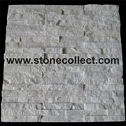White quartzite tiles for wall Cladding (ABP035)
