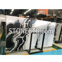Panda White Marble White Veins Slabs For Wall Background4