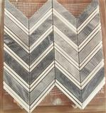 Polished Chevron Marble Mosaic Tile Natural Stone Patterns15