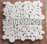 Honed Netural Stone Penny Round Mosaic Tiles Design79